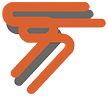 Tony's Test & Tag orange and grey medium logo for their website in Victoria