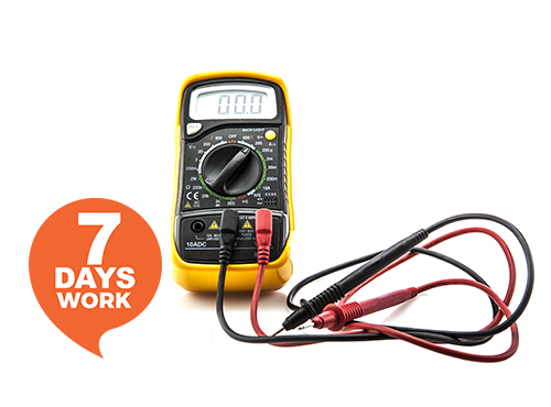 Tony's Test & Tag electrician checking wires in Victoria.